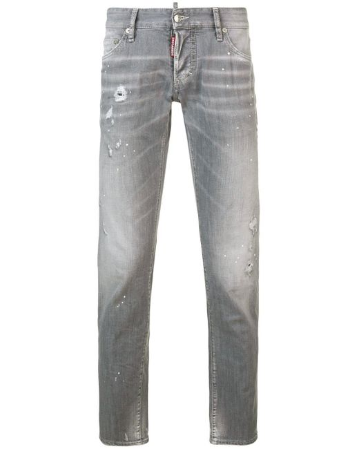 DSquared² Gray Faded Slim Fit Jeans for men