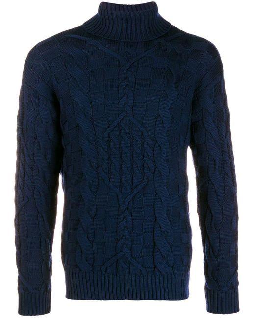 メンズ Etro タートルネックセーター Blue