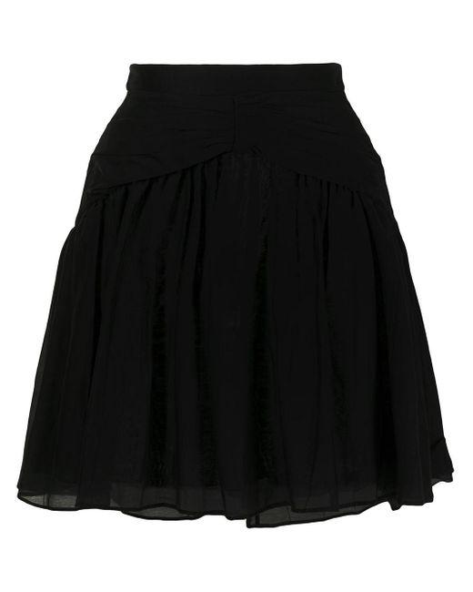 N°21 シャーリング スカート Black