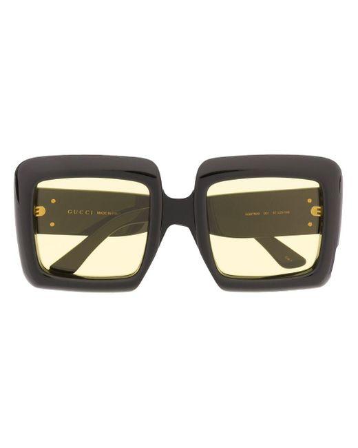 Солнцезащитные Очки В Массивной Квадратной Оправе Gucci, цвет: Black