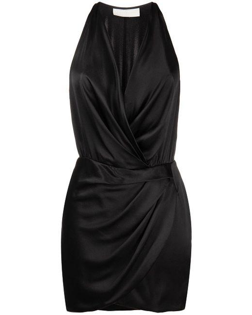 Vestito corto con scollo all'americana di Michelle Mason in Black
