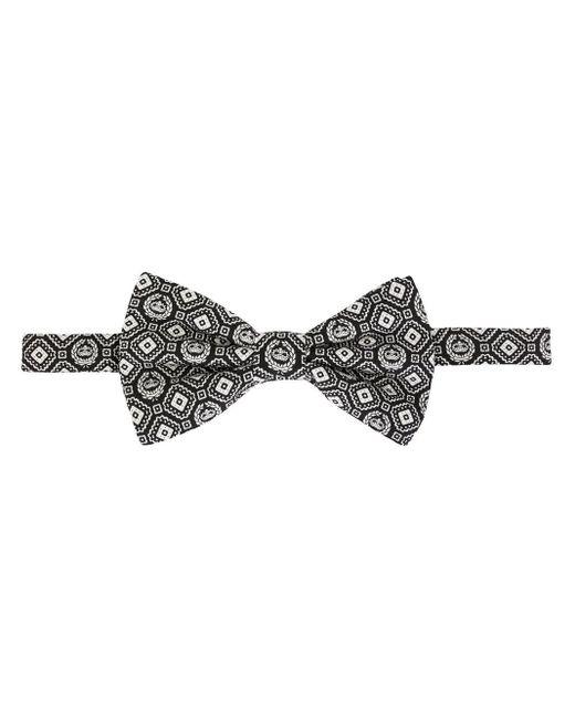 メンズ Dolce & Gabbana プリント 蝶ネクタイ Black