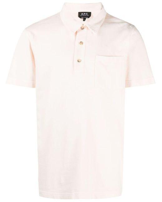 メンズ A.P.C. パッチポケット ポロシャツ Multicolor