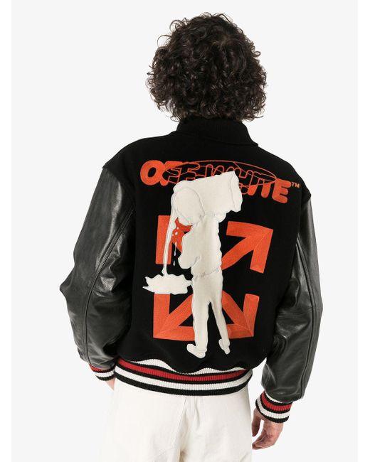Бомбер С Нашивкой-логотипом Off-White c/o Virgil Abloh для него, цвет: Black