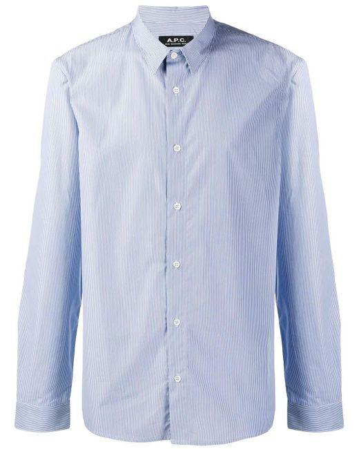 メンズ A.P.C. ストライプ シャツ Blue