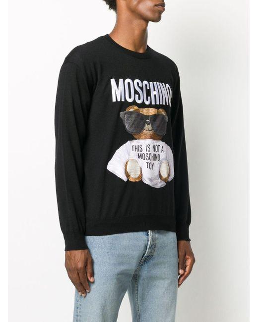 メンズ Moschino テディベア スウェットシャツ Black