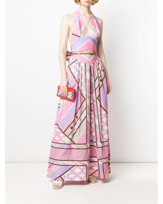 Emilio Pucci ベルテッド プリーツスカート Pink