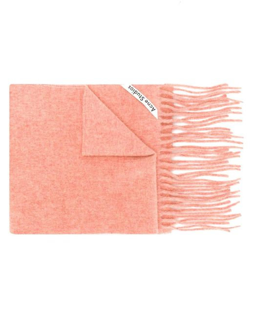 Acne Canada フリンジ スカーフ Pink