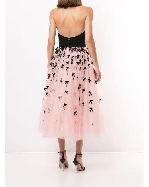 Carolina Herrera ストラップレス ドレス Pink