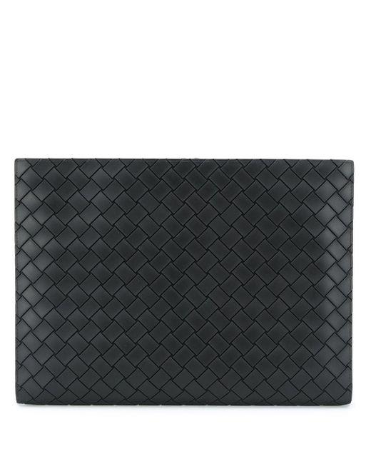 Клатч На Молнии С Плетением Intrecciato Bottega Veneta для него, цвет: Black