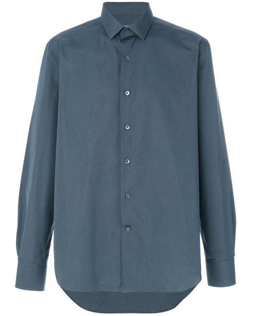 メンズ Lanvin クラシックシャツ Blue