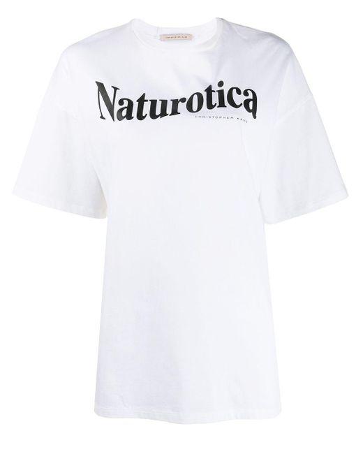 Christopher Kane Camiseta Naturotica con logo de mujer de color blanco E4W9m