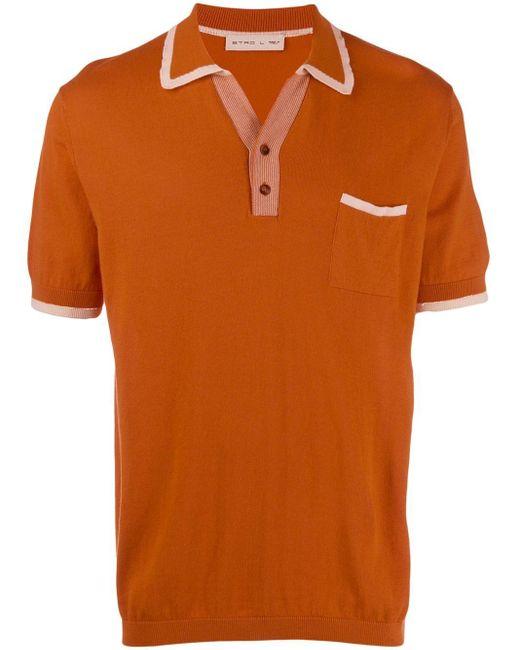 メンズ Etro ニット ポロシャツ Orange