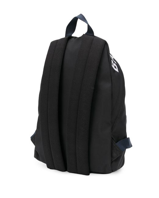 Balenciaga ウィール ロゴプリント バックパック Black