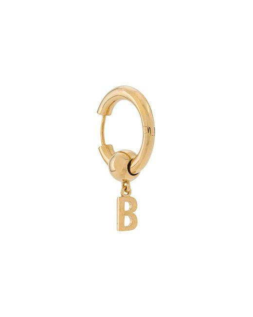 メンズ Balenciaga Force B ピアス Metallic