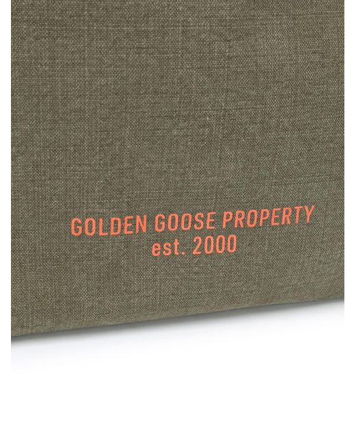 Borsa tote Golden Property di Golden Goose Deluxe Brand in Green