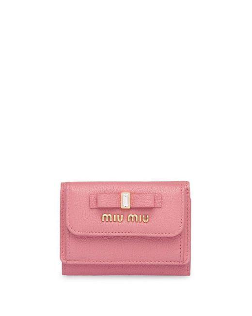 Miu Miu 三つ折り財布 Pink