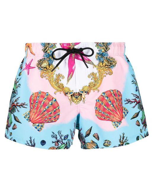 Плавки-шорты С Принтом Versace для него, цвет: Pink