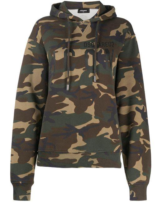 Felpa con stampa camouflage di DSquared² in Brown