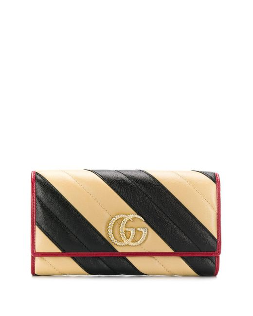 Gucci Black GG Marmont Continental Wallet