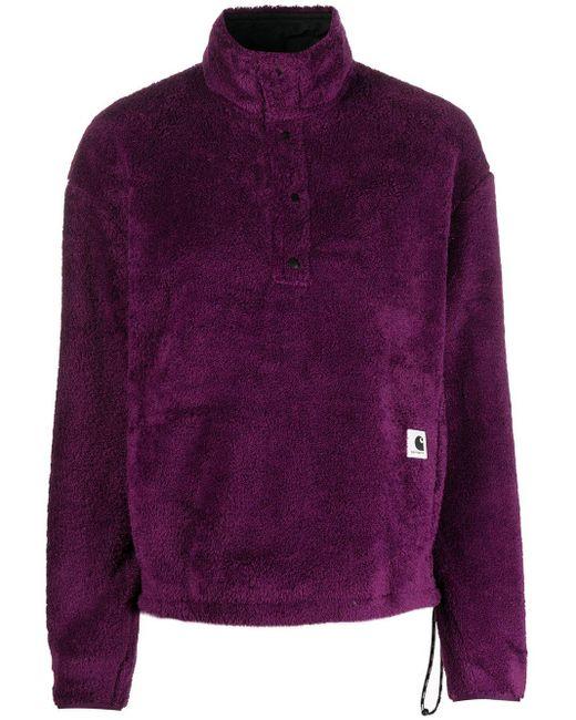 Carhartt WIP フリース プルオーバー Purple