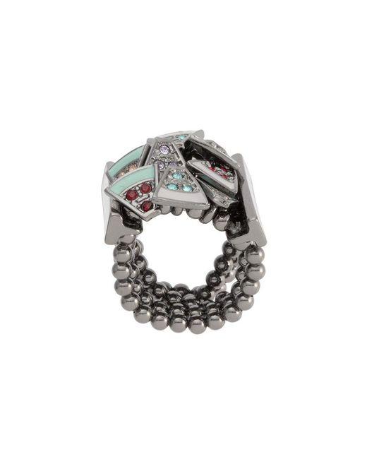 Camila Klein - Metallic Enamel Beaded Ring - Lyst