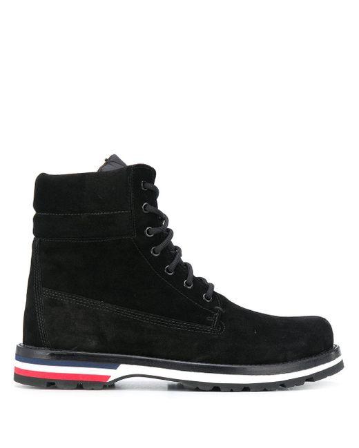 Moncler Black Lace Up Boots for men