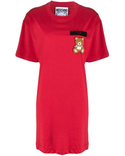 Moschino ロゴ Tシャツワンピース Red