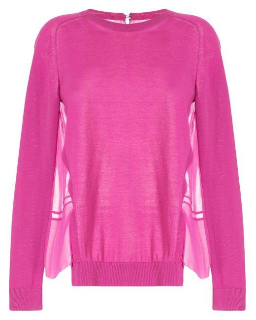 N°21 シフォンパネル セーター Pink
