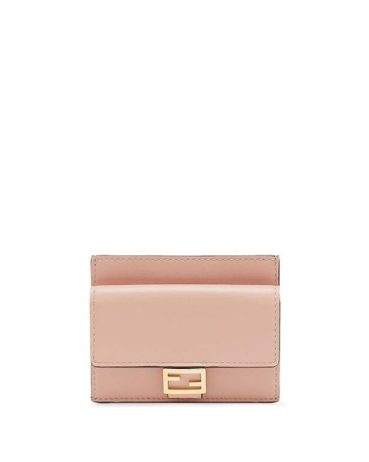 Fendi Pink Cc Flat Card Case
