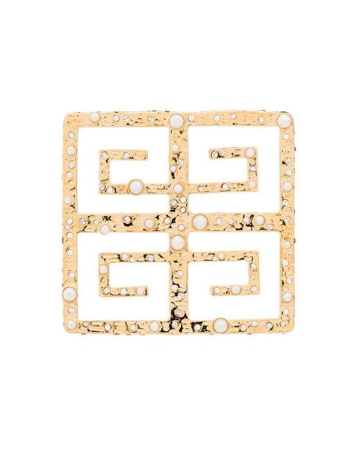 Givenchy 4g パール ブローチ Metallic