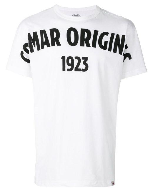 Colmar - White Logo Print T-shirt for Men - Lyst