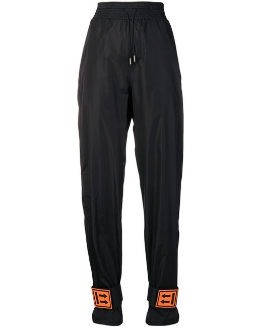 Off-White c/o Virgil Abloh Ankle Strap Track Pants Black