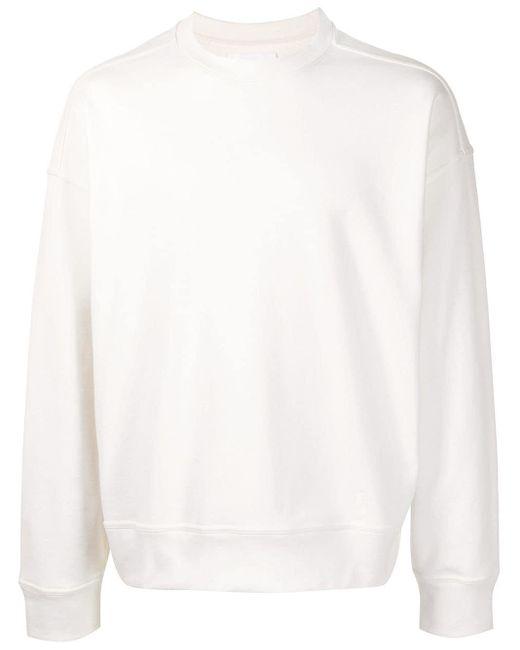 Толстовка С Круглым Вырезом И Вышитым Логотипом Jil Sander для него, цвет: White