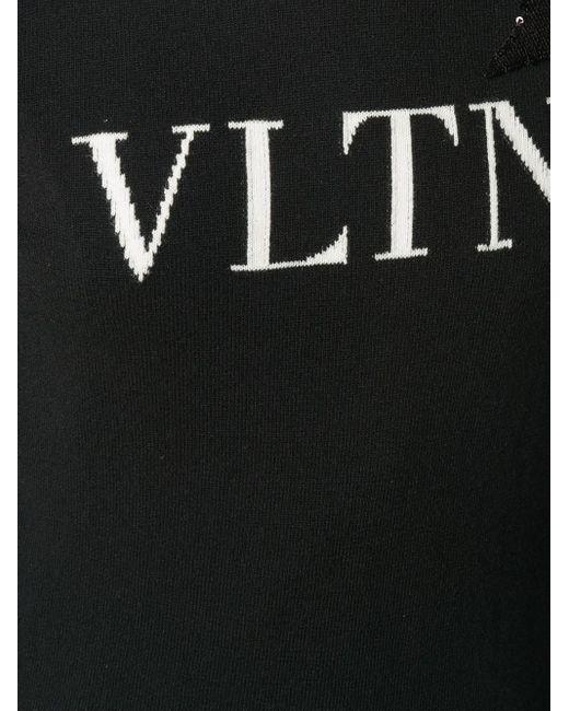 Valentino Vltn スターパッチ セーター Black