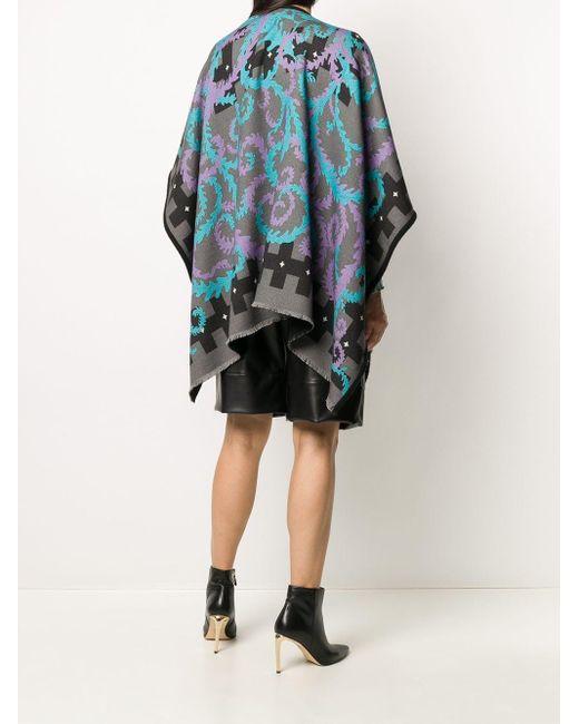 Объемный Шарф С Абстрактным Принтом Emilio Pucci, цвет: Gray