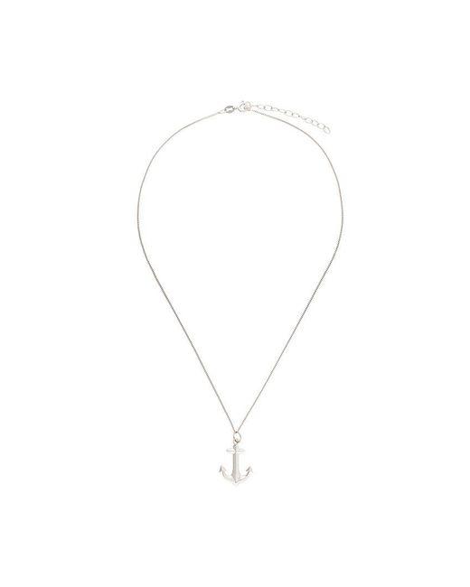 True Rocks - Metallic Anchor Pendant Necklace - Lyst