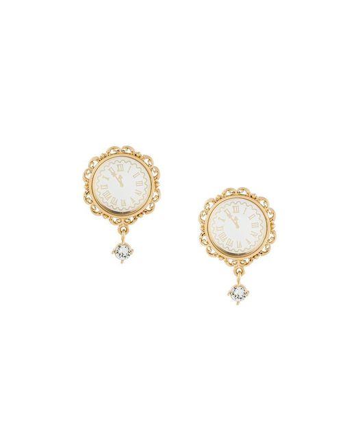 Dolce & Gabbana   Multicolor Clock Clip-on Earrings   Lyst