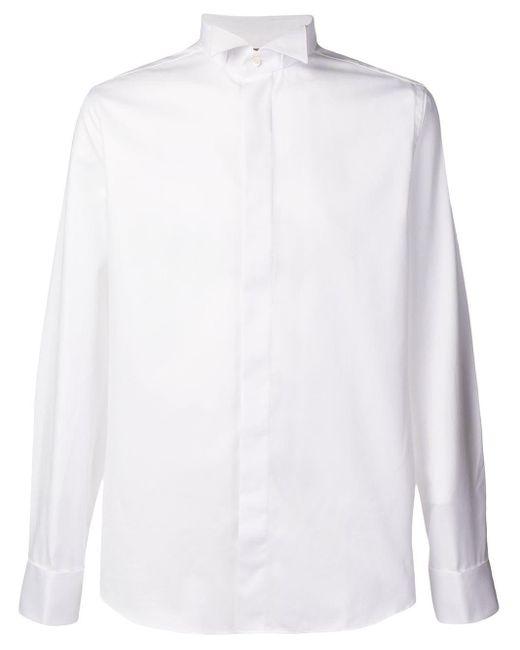メンズ Canali スリムフィット シャツ White