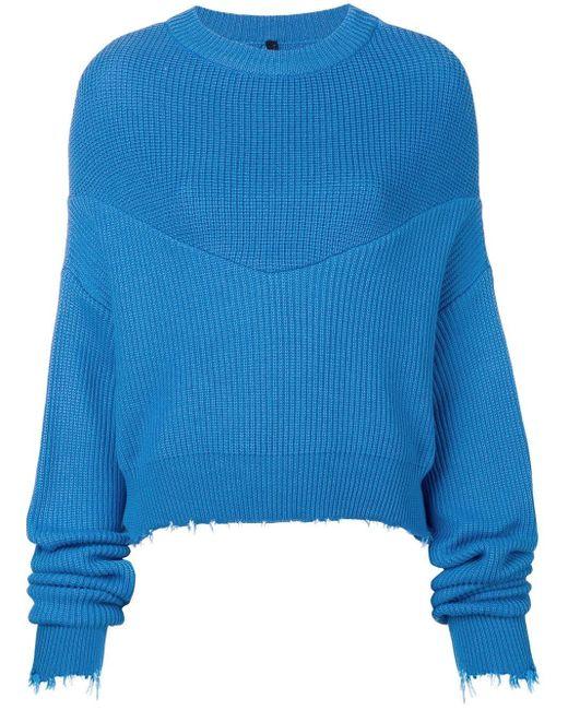 Unravel Project ドレープ セーター Blue