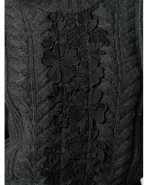 Джемпер Со Вставками See By Chloé, цвет: Black