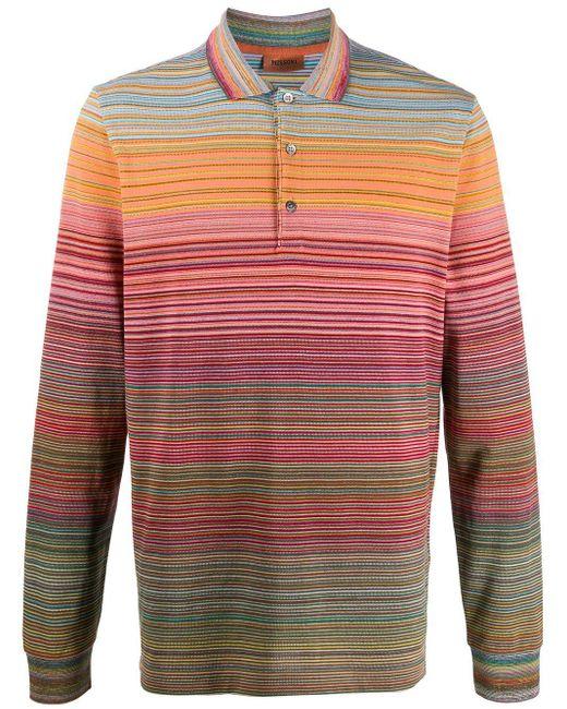 メンズ Missoni ストライプ ポロシャツ Multicolor