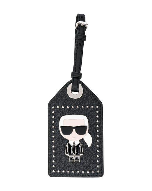 Karl Lagerfeld Ikonik 3d Pin タグ Black