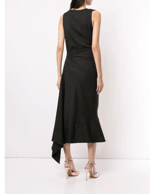 Robe mi-longue à design asymétrique Maticevski en coloris Black