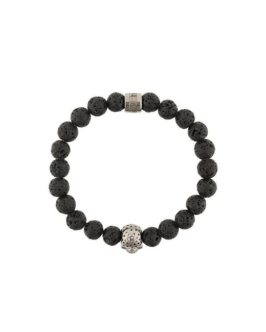 Northskull - Black Skull Charm Bracelet for Men - Lyst