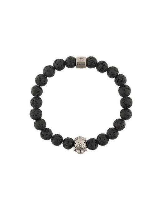 Northskull - Black Skull Charm Bracelet for Men - Lyst