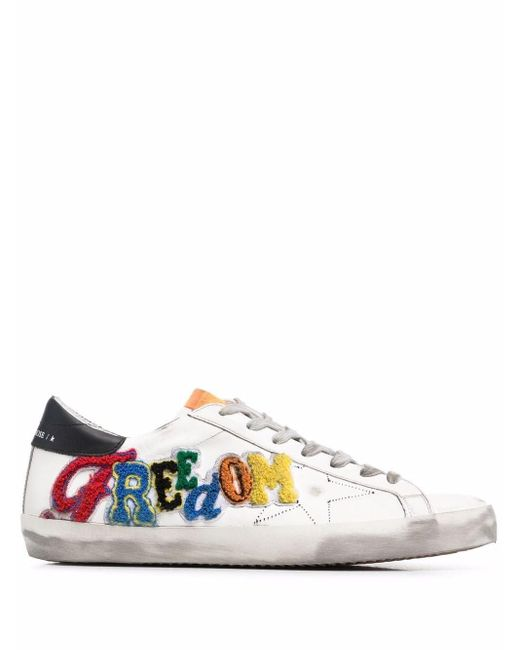 Golden Goose Deluxe Brand White Super-star Low-top Sneakers for men