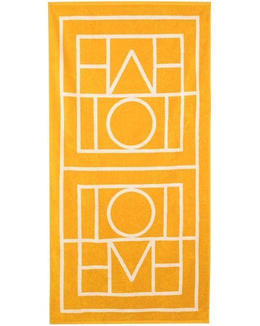 Пляжное Полотенце Biarritz С Монограммой Totême , цвет: Yellow
