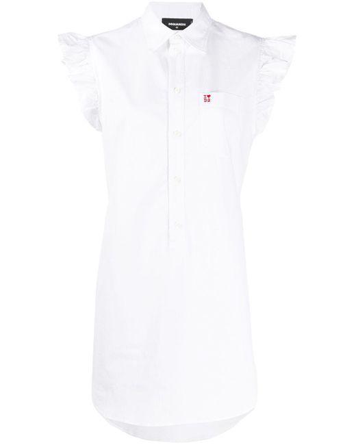 DSquared² ロゴ シャツドレス White