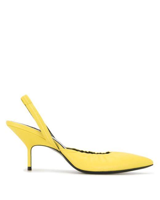 Pierre Hardy Yellow Slingback-Sandalen